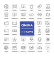 line icons set cinema vector image vector image