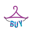 logo hanger with the inscription buy vector image