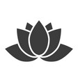 lotus flower icon on a white background in a flat vector image