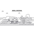 mesa arizona architecture line skyline vector image