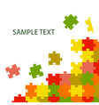 multi-coloured puzzles vector image