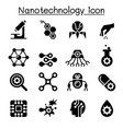 nanotechnology icon set vector image