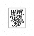 New Year 2017 vintage greeting card vector image
