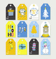 new year s and christmas winter holiday symbols vector image vector image