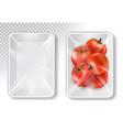 polypropylene plastic packaging for vegetables vector image