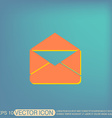 postal envelope e-mail symbol icon envelope vector image