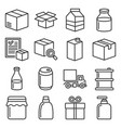 product release icons set on white background vector image vector image