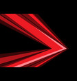 red arrow speed direction on black vector image vector image