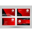 Red business card set vector image vector image