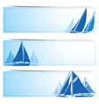 Sailboat banners vector image