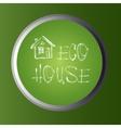 save home concept Button vector image