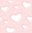 seamless hearts pink pattern vector image