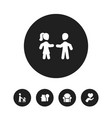 Set of 5 editable family icons includes symbols