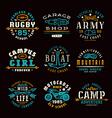 Set of team sports emblems vector image