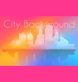 silhouette city structure downtown urban modern vector image vector image