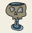 skull in a vintage retro hand drawn woodcut vector image vector image