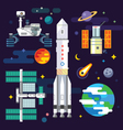 Space industry elements vector image