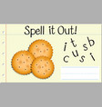spell english word biscuit vector image vector image