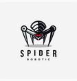 spider robot logo icon on white background vector image