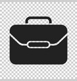 suitcase icon luggage in flat style vector image vector image