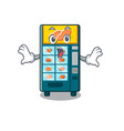 surprised bakery vending machine in a mascot vector image vector image