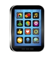 tablet pc with app icons vector image vector image