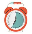 Thirty Five Minutes Stop Watch - Alarm Clock vector image vector image