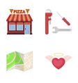 tourism restaurant business and other web icon vector image