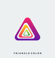 triangle design template vector image