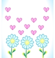 Watercolor daisies and hearts vector image vector image