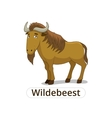 wildebeest african savannah animal cartoon vector image vector image