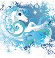 Winter horse vector image vector image