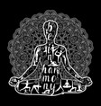 yoga black and white vector image vector image