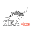 Zika virus symbol Isolated Thin line icon vector image