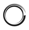 black paint brush circle stroke abstract vector image