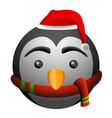 isolated penguin emoji vector image