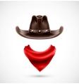 Accessories cowboy vector image