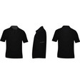 black polo t shirt vector image