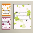 Set orange squares red and green vector image