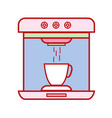 technology coffee maker electric kitchen utensil vector image
