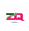 Alphabet Z and Q letter logo vector image vector image