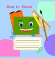 back to school banner design education vector image vector image