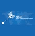 bgan regional broadband global area network line vector image