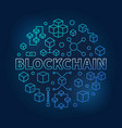 blockchain technology blue modern round vector image vector image