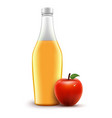 bottle red juice apple isolated healthy vector image