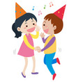 boy and girl dancing at party vector image
