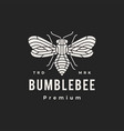 bumble bee monoline hipster vintage logo icon vector image vector image