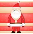 Cartoon Santa Claus smiling red christmas vector image vector image