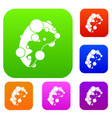 cell virus set collection vector image vector image