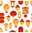china lanterns pattern asian traditional new year vector image vector image